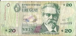 Uruguay - 20 Pesos 2011 - Série F - N° 22335559 - Usagé - - Uruguay