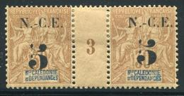 NOUVELLE CALEDONIE - N° 65 MILLÈSIME 3 , CHARNIÈRE CENTRALE - TB - Nouvelle-Calédonie