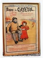 C.P °_ 80-Cayeux Sur Mer- Affiche Publicitaire Chemins De Fer Du Nord - Cayeux Sur Mer
