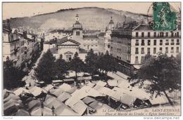 42) SAINT ETIENNE - PLACE ET MARCHE DES URSULES - EGLISE SAINT LOUIS - Saint Etienne