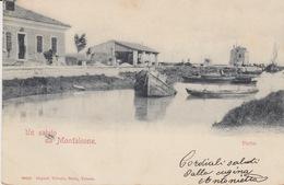 UN SALUTO DA MONFALCONE (GORIZIA) -- VIAGGIATA  1902 - Gorizia