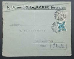 Palestine Jerusalem 113m Pictorial Surcharge 1925 Italy R. Barouch & Co. - Palestine