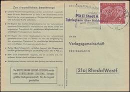 Landpost Pst II Stadt A Schriesheim über HEIDELBERG 26.10.1960 Auf Postkarte - Covers