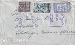 VENEZUELA 1951 LETTRE DE LA GUAIRA POUR ÜBERLINGEN - Venezuela