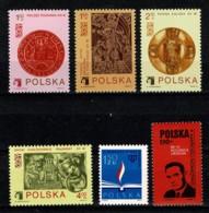 Polska 1973 Yv. 2099/2102**, 2103**, 2104**,  Mi 2257**, 2258/61**, 2262** MNH - 1944-.... République