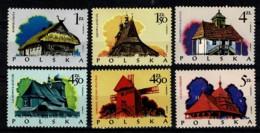 Polska 1974 Yv. 2142/47**,  Mi 2302/07** MNH - 1944-.... République