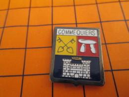 1319 Pin's Pins / Belle Qualité & Rare / THEME VILLES : BLASON ECUSSON ARMOIRIES COMMEQUIERS DOLMEN CLES CHATEAU - Villes