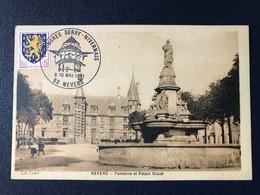 CPA Nevers Nièvre Congrès Berry Nivernais 1981 Cachet Philatélique - Nevers