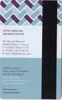 Carte Clé Hôtel : Mercure Orléans Centre - Cartes D'hotel