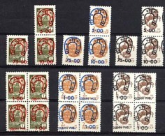 RUSSIE NALTCHIK, Emission Locale / Local Issue Sur SU / URSS, 21 Surcharges Fer à Cheval / Overprinted. R209 - Errors & Oddities