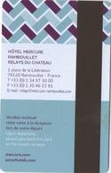 Carte Clé Hôtel : Mercure Rambouillet Relays Du Château - Cartes D'hotel