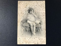 CPA Photo Fantaisie époque Enfant Cachet Toulouse Haute Garonne - Photos