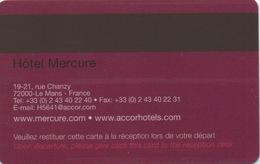 Carte Clé Hôtel : Mercure Le Mans - Cartes D'hotel