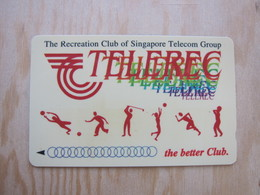 GPT Phonecard,64SIGA  Telerec Club Basketball,football,golf And Etcs,set Of 1,mint,control Number Not Very Clear - Singapore