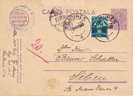 ROUMANIE 1936      ENTIER POSTAL  /GANZSACHE/POSTAL STATIONERY CARTE DE TG-MURES - Entiers Postaux