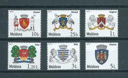 2015 Moldavië Complete Set Coat Of Arms MNH/Postfris/Neuf Sans Charniere - Moldavia