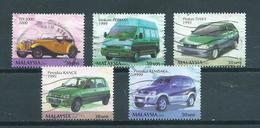 2001 Malaysia 5x Automobiles Used/gebruikt/oblitere - Malaysia (1964-...)