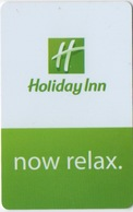 Carte Clé Hôtel : Holiday Inn : Now Relax. - Cartes D'hotel