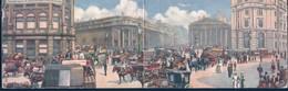 POSTAL LONDON PANORAMIC CARD 6636 - THE BANK OF ENGLAND - RAPHAEL TUCK & SONS OILETTE - POSTAL DOBLE - Londres