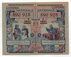 - BILLET DE LOTERIE NATIONALE 1941 - 2e TRANCHE - Etablissements BÉBÉ-SPORT - - Billets De Loterie