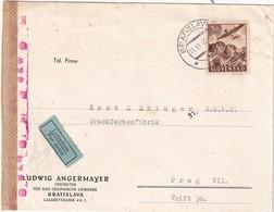 SLOVAQUIE 1943 PLI AERIEN CENSURE DE BRATISLAVA - Slovaquie