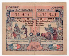 - BILLET DE LOTERIE NATIONALE 1941 - 8e TRANCHE - Etablissements BÉBÉ-SPORT - - Billets De Loterie