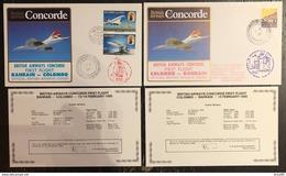 Premier Vol - Concorde - British Airways - Bahrain - Colombo - 1985 - Concorde