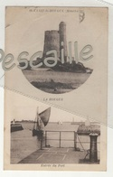 50 MANCHE - CP 2 VUES SAINT VAAST LA HOUGUE - LA HOUGUE / ENTREE DU PORT - LE GOUBEY - CL. A.V. - CIRCULEE EN 1938 - Saint Vaast La Hougue