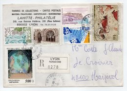 - Lettre Recommandée LYON PERRACHE Pour MARJEVOLS (Lozère) 18.9.1990 - Bel Affranchissement Philatélique - - France
