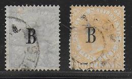 1882/1883 - SIAM / BANGKOK - YVERT N°5+18 OBLITERES DEFECTUEUX (AMINCIS / THIN  ...) - COTE = 400 EUR. - Siam