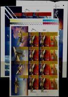 ISRAEL  2013 100 YEARS OF AVITION IN ERETZ ISRAEL SET OF 3 SHEET IMPERF MNH VF!! - Non Dentelés, épreuves & Variétés