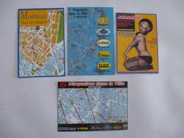 MONTPELLIER (34) : Commerce De DISQUES - COLLECTORS - MUSIQUE - LOT De 4 CPM Vers 1990 - Montpellier