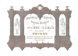 Porceleinkaart  - Magasin Van Deutsche Hangende Horlogen - Joseph Dilger  -  Bruges - Brugge - 12.5 X 9 Cm - Brugge