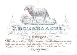 Porceleinkaart  - J. Dobbelaere - Marchand De Giles, Cravattes, Calamandesn ... -  Bruges - Brugge - 12 X 8.5 Cm - Brugge