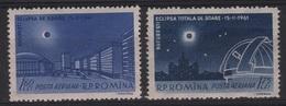 ASTRO 7 - ROUMANIE PA 144/45 Neufs** Thème Astrologie - Poste Aérienne