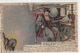 Faust - Super Hold-to-light-AK (Teufel) - Russische Frankatur - 1904       (A-182-191003) - Controluce