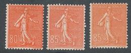 DI-403: FRANCE: Lot Avec N°203**-204**(2) - 1903-60 Semeuse Lignée