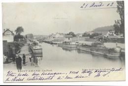 18-SAINT-AMAND-Le Port...1903  Animé - Saint-Amand-Montrond