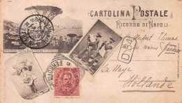 CARTOLINA POSTALE - RICORDO DI NAPOLI - POSTED APRIL 1897 ~ A 123 YEAR OLD POSTCARD #21420 - Napoli (Naples)