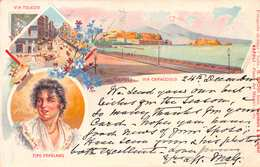 NAPOLI - VIA CARACCIOLO - POSTED DECEMBER 1897 ~ A 123 YEAR OLD POSTCARD #21422 - Napoli (Naples)