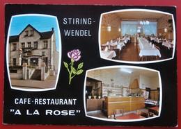 Cpsm Cpm 57 STIRING WENDEL Multivues CAFE RESTAURANT A LA ROSE C. Lang Tampon  Pas Courant - Otros Municipios