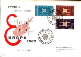 92716) CIPRO 1963 EUROPA FDC - Storia Postale