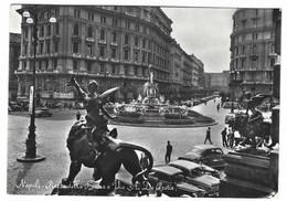 3609 - NAPOLI PIAZZA DELLA BORSA E VIA DE PRETIS ANIMATA 1950 CIRCA - Napoli