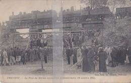 CPA FREVENT LE PONT DU MARAIS RECONSTRUIT PROVISOIREMENT LE 19 OCTOBRE 1914 - Francia