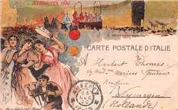 CARTE POSTALE D'ITALIE - PIEDIGROTTA 1900 - UOCCHIE RARE SERENATA NAPOLETANA - POSTED 1900  #21426 - Napoli