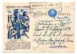Portugal, Inteiro Postal, Stationery, De Aveiro Para Lisboa, Conheça A Sua História Nº 4  (2 Scans) - Postwaardestukken