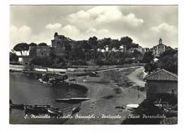 3619 - S MARINELLA CASTELLO ODESCALCHI PORTICCIOLO CHIESA PARROCCHIALE ROMA 1957 - Italia