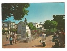 3629 - ACCADIA FOGGIA PIAZZA MATTEOTTI E MONUMENTO AI CADUTI ANIMATA 1976 - Italia