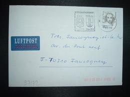 LETTRE Pour La FRANCE TP MARLENE DIETRICH 110 OBL.MEC.14.10.97 MOLLHEIM STADTEPATNERSCHAFT GRAY - [7] República Federal
