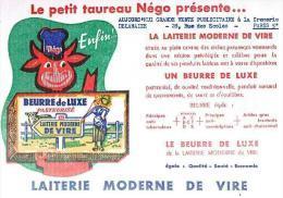 """BUVARD : LA LAITERIE MODERNE DE VIRE - """"AUJOURD'HUI GRANDE VENTE PUBLICITAIRE à La CREMERIE DELAHAZE PARIS (5°)"""" - Alimentaire"""